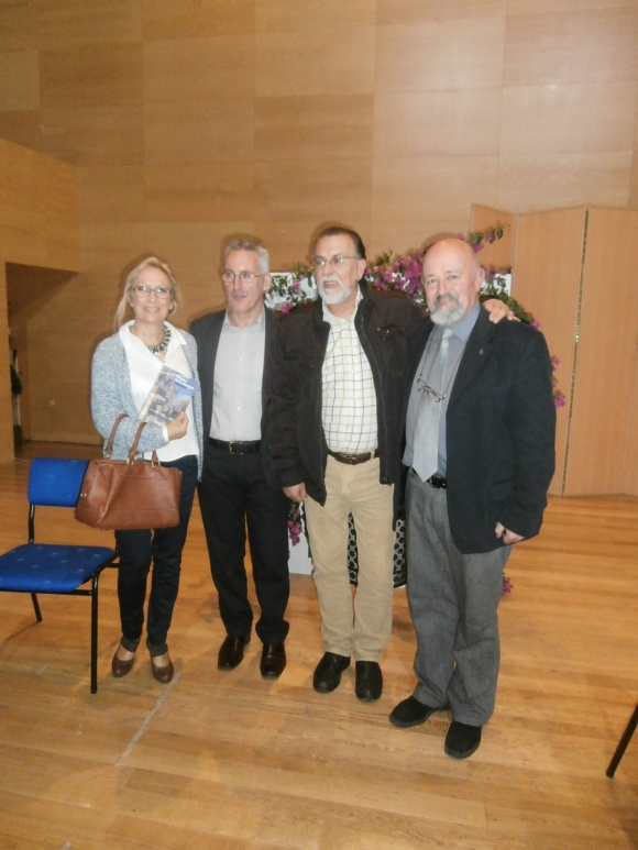 Wendy, Sergio Barce, Miguel Alvarez y Ernesto Blanco