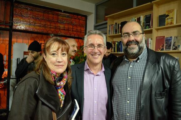 Charo Sánchez, Sergio Barce y César Martínez Herrada