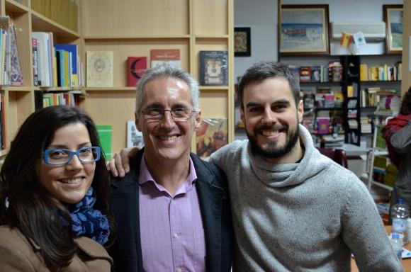 Lidia con Sergio y Pablo Barce