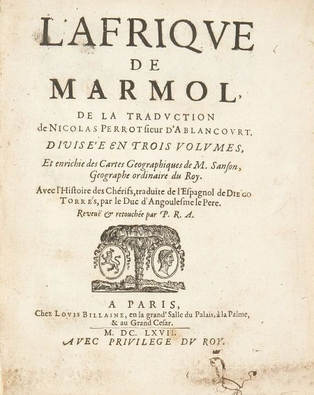 Descripción del Africa por Luis de Mármol - en francés