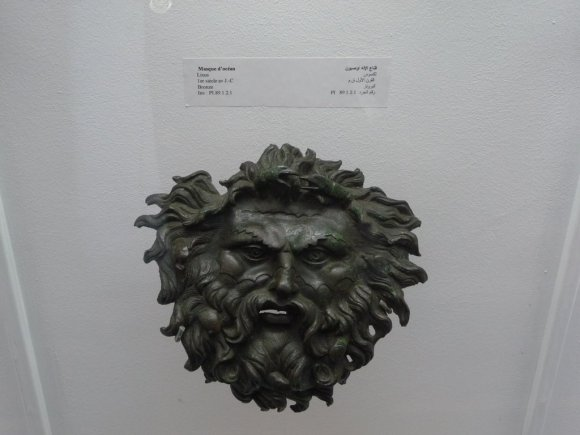 """Máscara de """"Oceanus"""" encontrada cerca de Larache, en las ruinas de Lixus"""