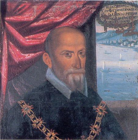 don ALONSO PÉREZ DE GUZMÁN, duque de Medinasidonia