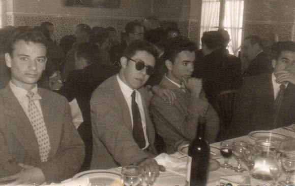 1956 Derecha, Carlos Galea; izquierda, Peral; y centro Emilio Gambero y Fco Juan Carrasco