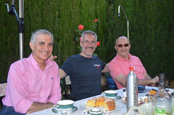 Pepe Sarria, Sergio Barce y Ahmed Oubali