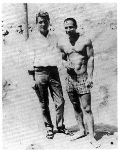 Francis Bacon con Ahmed Yacoubi, en Tánger, 1956