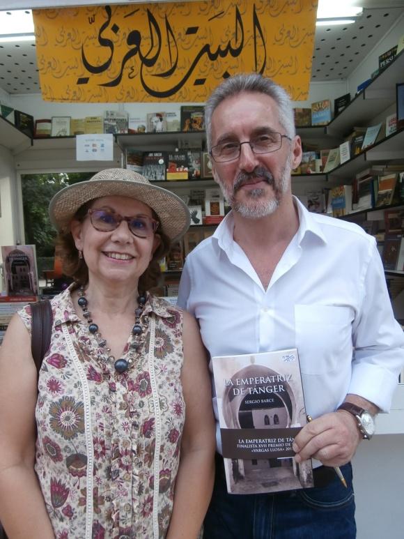 FUENSANTA NIÑIROLA Y SERGIO BARCE en la pasada Feria del Libro de Madrid