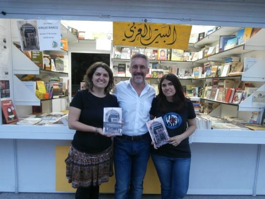 En la caseta de Casa Árabe Balqís,  con Sara y Beatriz