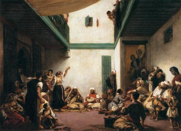 Boda judía en Marruecos,  lienzo de Delacroix