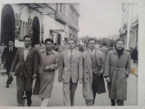 Larache - José Guerra Benítez, Antonio Martín, Eduardo Sánchez. Pedro Vargas y Carmelo Rosendo
