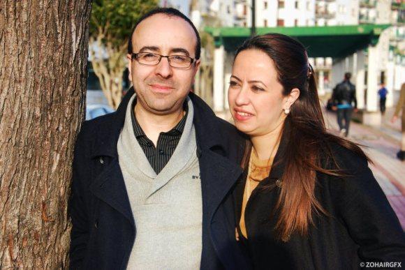 El realizador de cine larachense MOHAMED CHRIF TRIBAK y NAJA BENSARGHINE