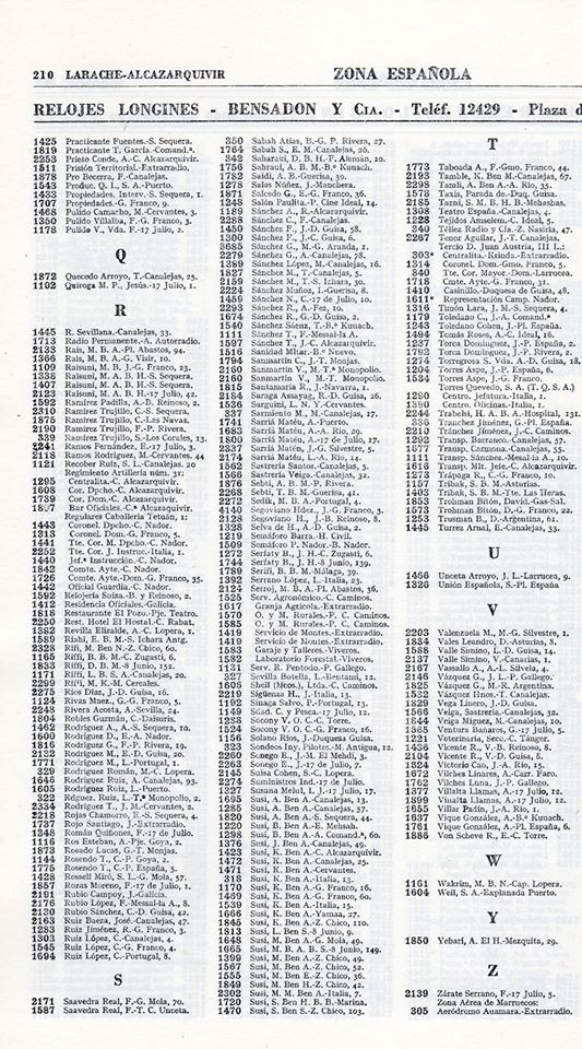 ANUARIO TELEFONICO LARACHE 1956 4