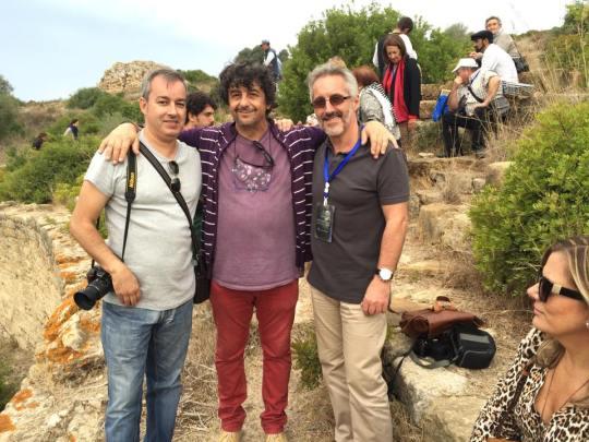 En Lixus - Ramón Tarrío, Emilio Gallego, Sergio Barce y Berry, sentada.