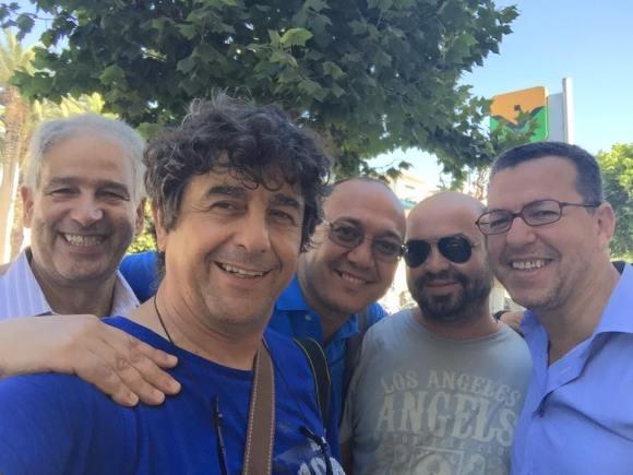 Larache 2015 - Hachmi, Emilio, Abderrahman, Mounir y Serrojk