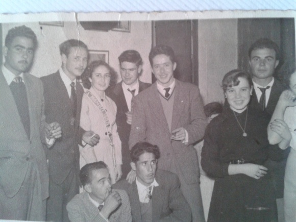 1955 - Miembros de la Peña Mambo de Larache. La dama de honor era Antonia, tía de Jaime Rosendo.