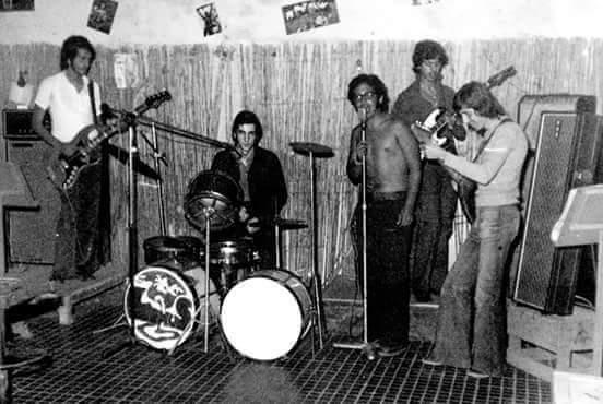 Larache e n1973 - Mohamed Bouharate, Toni Triviño, Fufo, Mohamed Guennouni y Abderrahman Zaimi