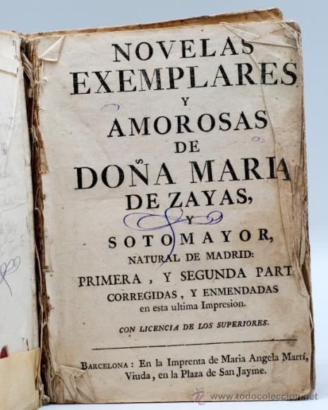 Novelas exemplares de María de Zayas