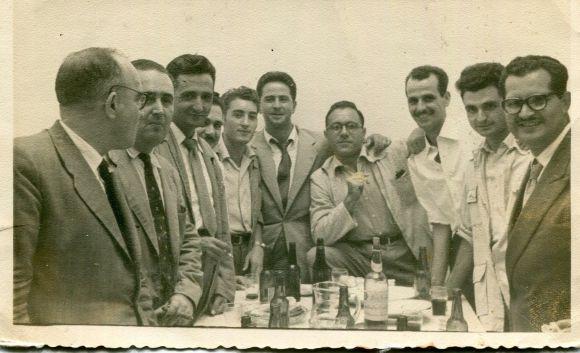DE IZQ A DERC- VICENTE CHAPAPRIETA, DOMINGO VALES, GERMÁN NÚÑEZ, LUIS LLADÓ, ANTONIO BARCE, JOSE L. AMADO, MANOLO L. GAMBERO, ANTONIO ABELLA, J.L. DE LAS MARINAS, EMILIO AGUILERA