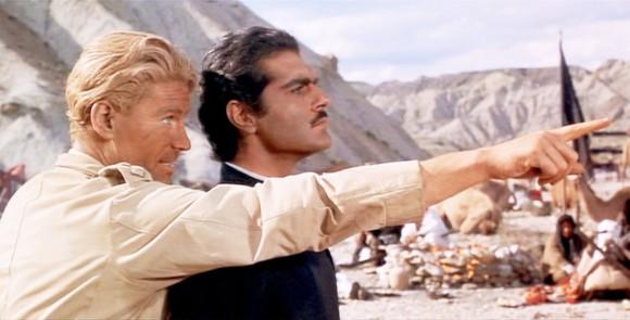 Peter O´Toole y Omar Sharif, en Lawrence de Arabia
