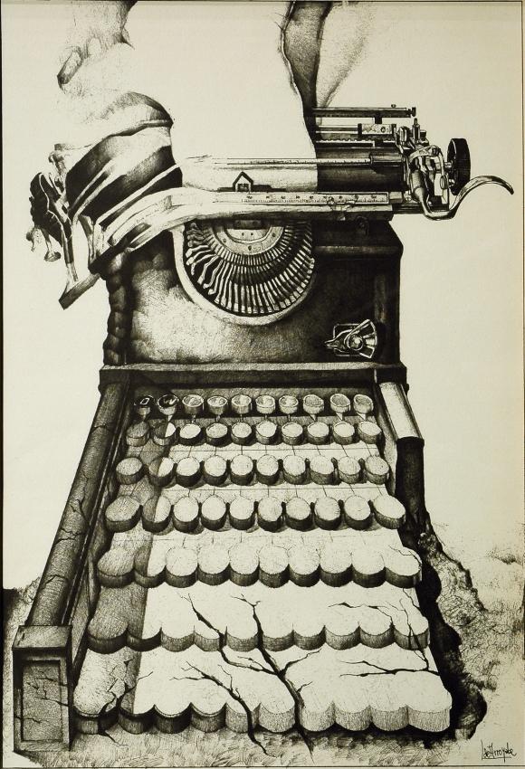Serigrafía de Vicente Lçopez de Arroyabe 1979