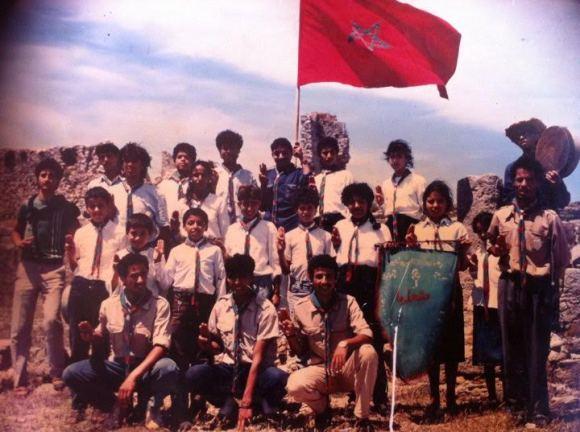 1987 - LIXUS - NAJIM AMALLAL EL OUAHABI, BINOI,, KHAYAT, BAIOIA OTMANE, MESSARI MOHAMED, LAABI MOHAMED y EL HAFIDI