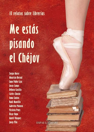 Ballet shoe on a stack of old books