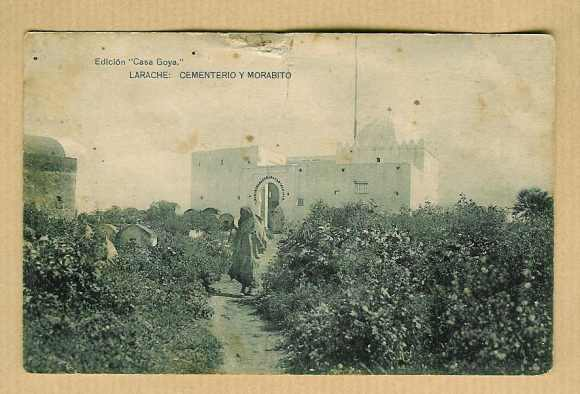 19-Larache nativo-1928-Cementerio y morabito (santuario)