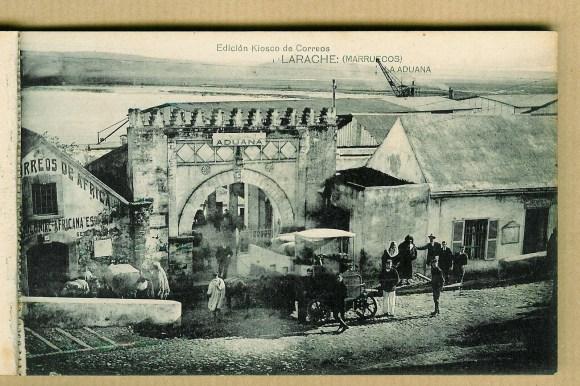 20-Larache colonial-1928-Edificios de correos de África y de la aduana.