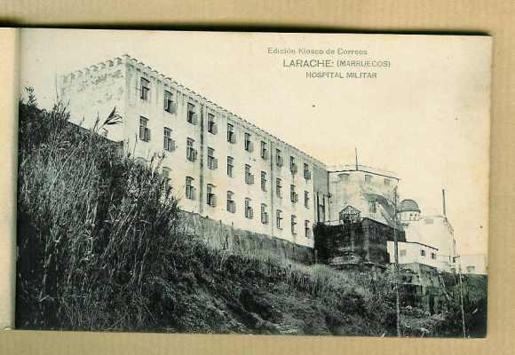 22-Larache colonial-1928-Edificio del hospital militar.