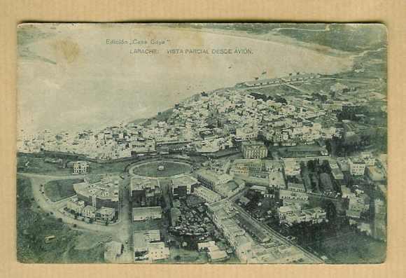 Larache colonial-1928-Vista parcial desde avión
