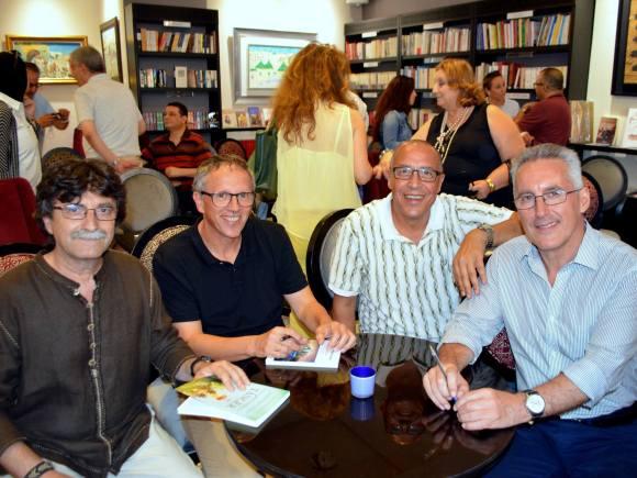 Antonio Lozano, Seljo Bellver, Abdellatif Bouziane y Sergio Barce