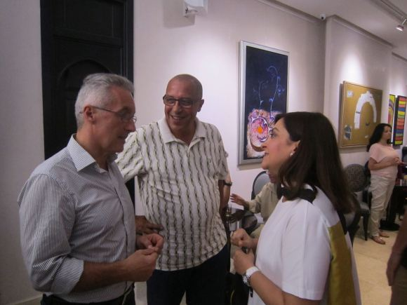 Sergio Barce, Abdellatif Bouziane y Leila Mimoun