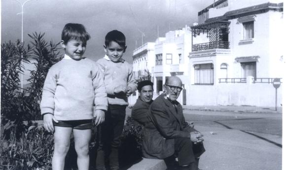 Balcón - Con mi abuelo Manuel Barce, y mi amigo Juan Antonio Martín