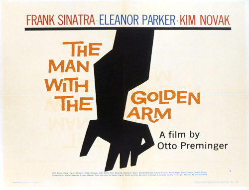 """The Man with the Golden Arm"" (Saul Bass Poster) 1955 United Artists ** T.N.C."
