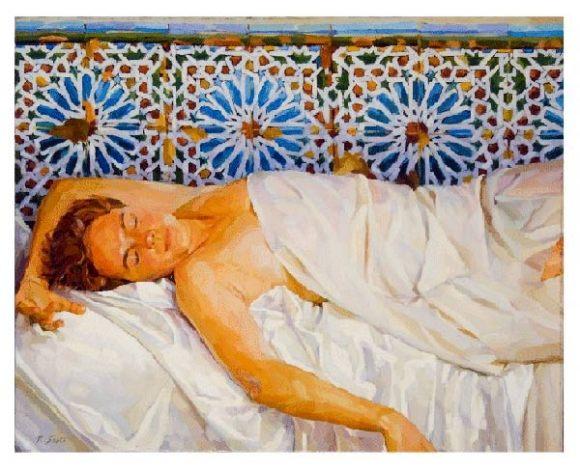 """Instant de reve"", obra del pintor larachense Rachid Sebti"
