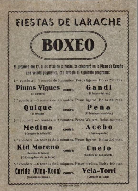BOXEO en Larache