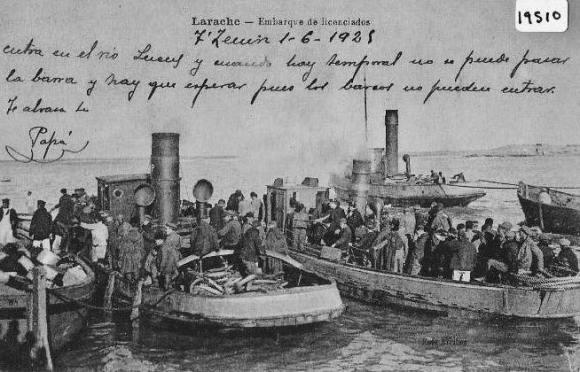 LARACHE 1925 - BARCAZAS