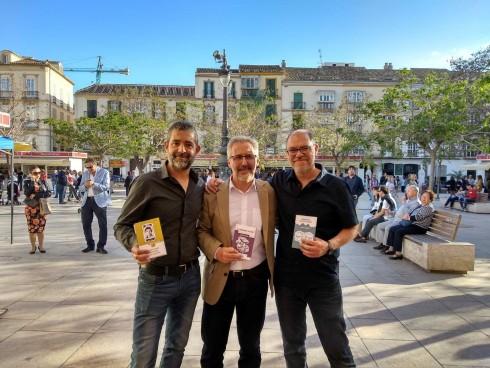 Pedro Pujante, Sergio Barce y Pablo Aranda