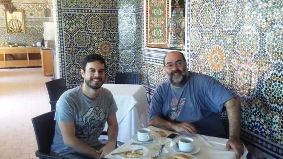 Pablo Barce y César Martínez Herrada en el Hotel Continental