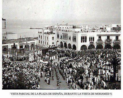 Plaza España - Larache 8- visita de Mohamed V