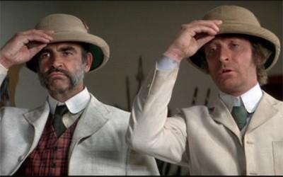 Connery y Caine en El hombre que pudo reinar