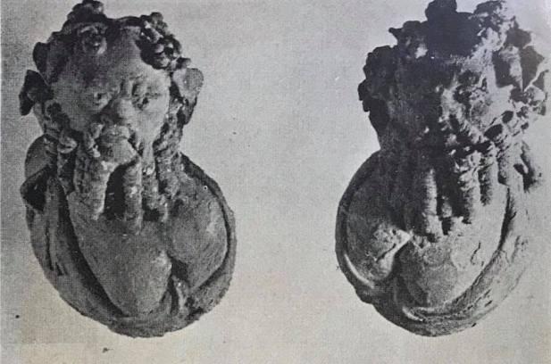 Lixus 1 Cabezas de Sileno que formaban parte de los adornos de bronce del mismo lecho