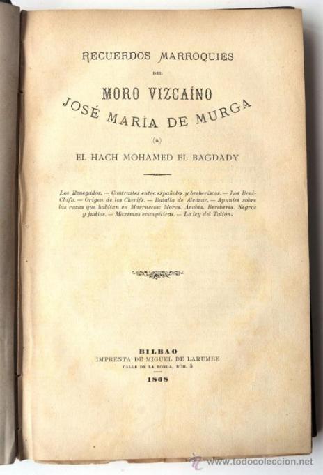 RECUERDOS MARROQUÍES de José María de Murga