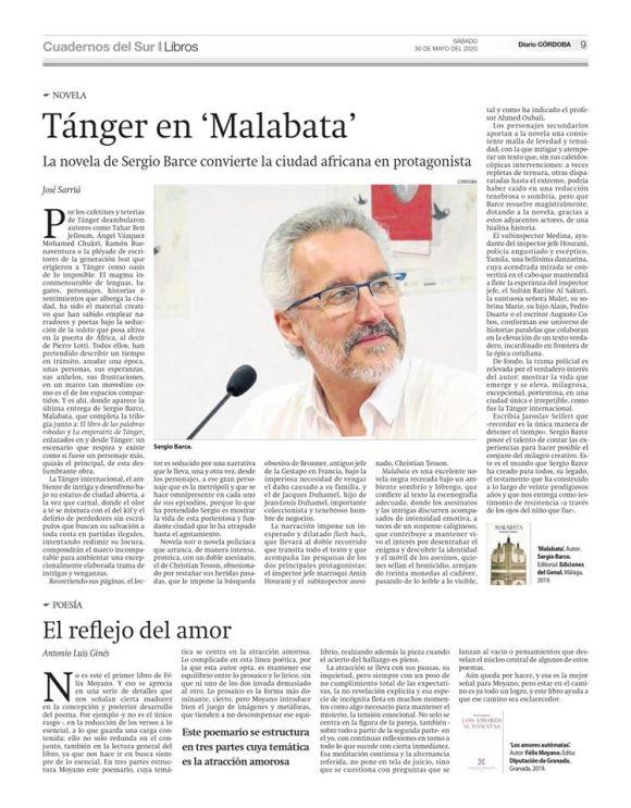 MALABATA en Cuadernos del Sur diario Córdoba