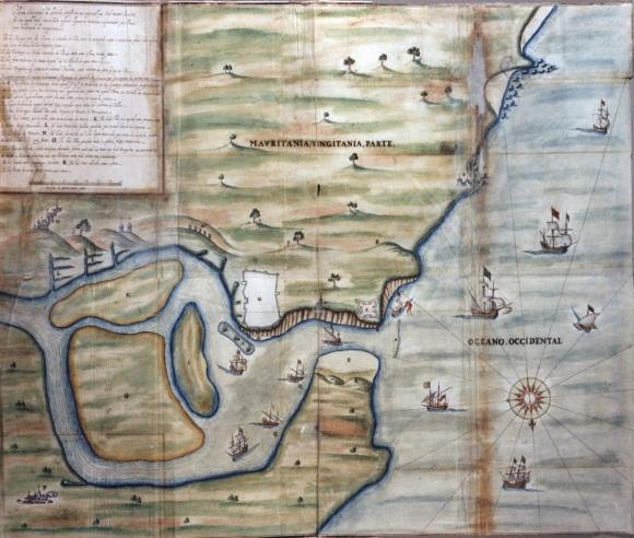 Planta de Larache de 1606 de João Mateo Benedetti - Arquivo Nacional Torre do Tombo