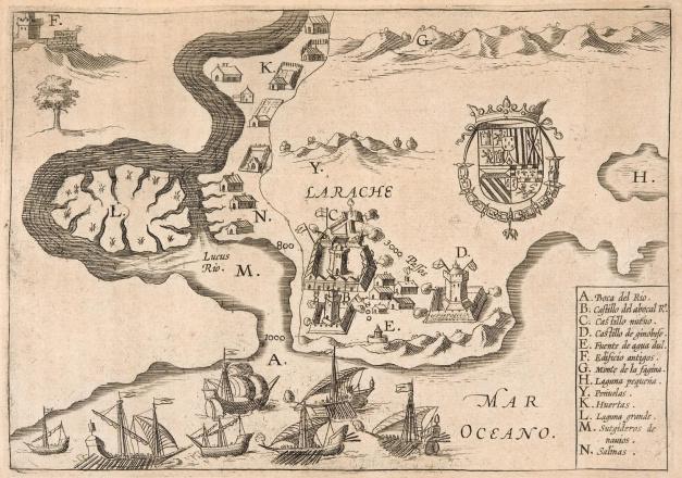 La imagen tiene un atributo ALT vacío; su nombre de archivo es planta-de-larache-de-bernardo-alderete-1614-biblioteca-nacional.jpg