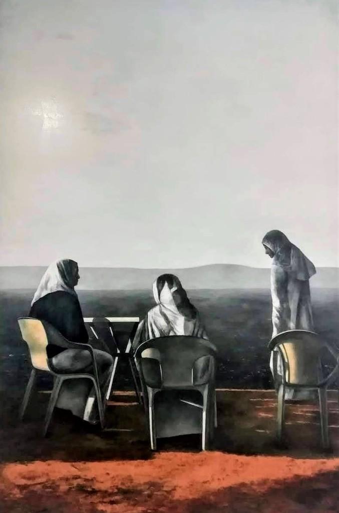La imagen tiene un atributo ALT vacío; su nombre de archivo es tres-mujeres-en-cabo-malabata-oleo-tabla-120-x-80-cm-de-consuelo-hernandez.jpg